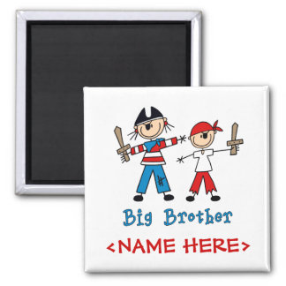 Stick Pirates Big Brother 2 Inch Square Magnet