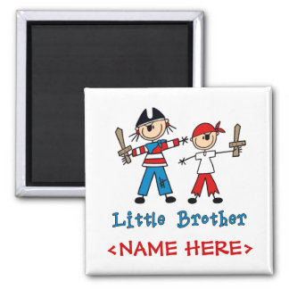 Stick Pirates Little Brother 2 Inch Square Magnet
