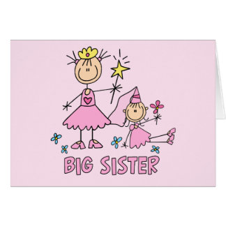 Stick Princess Duo Big Sister Greeting Cards