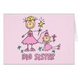 Stick Princess Duo Big Sister Greeting Cards