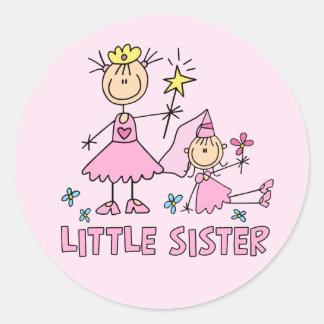 Stick Princess Duo Little Sister Classic Round Sticker