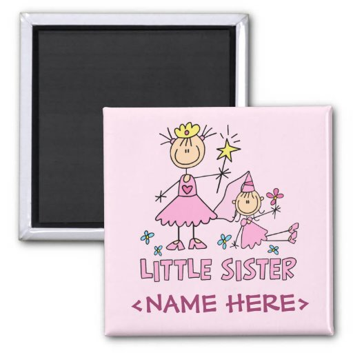 Stick Princess Duo Little Sister Fridge Magnet