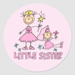 Stick Princess Duo Little Sister Round Stickers