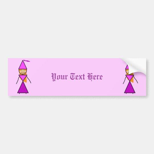 Stick Princess Redhead Bumper Sticker