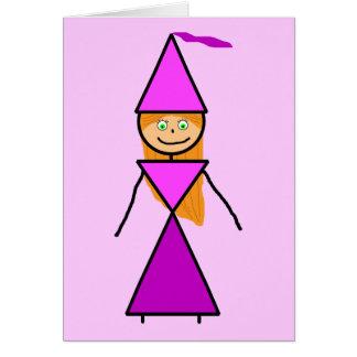 Stick Princess Redhead Greeting Card