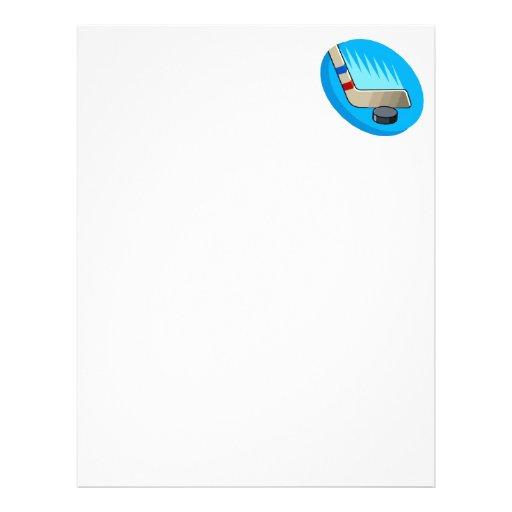 Stick & puck personalized letterhead
