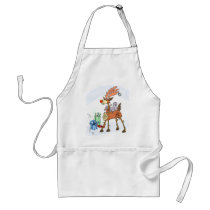 Stick reindeer adult apron