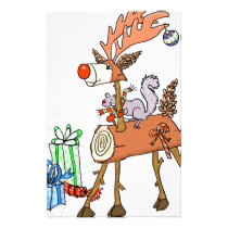 Stick reindeer stationery