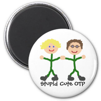 Stick SG-1 Stupid Cute OTP S/D Magnet