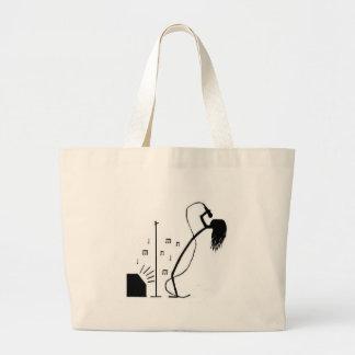 Stick Singer Jumbo Tote Bag