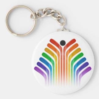 Stick Spectrum Basic Round Button Keychain