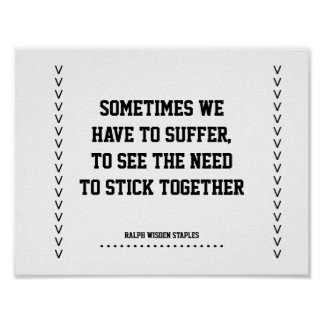 Stick together in unity poster