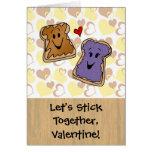 Stick Together Peanut Butter Valentine Greeting Cards