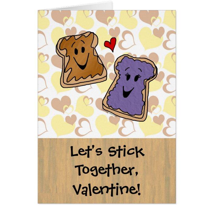 Stick Together Peanut Butter Valentine Card