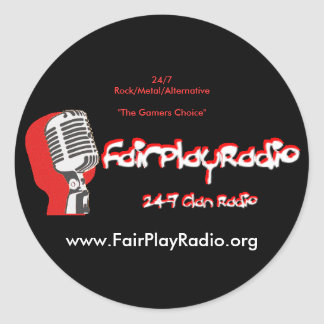Stick Up FairPlayRadio support stickers