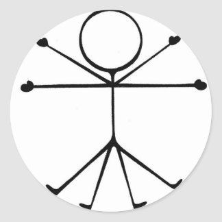 Stick Vitruvian Man Sticker