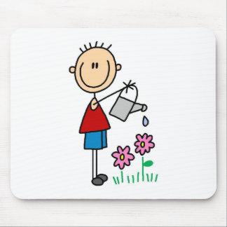 Stick Watering Flowers Mousepad