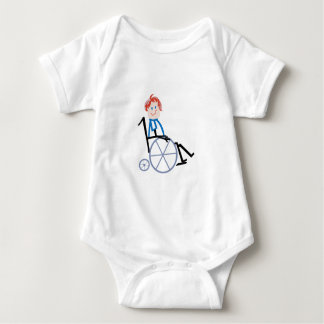 Stick Wheelchair Kid Baby Bodysuit