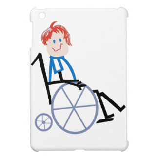 Stick Wheelchair Kid iPad Mini Cover