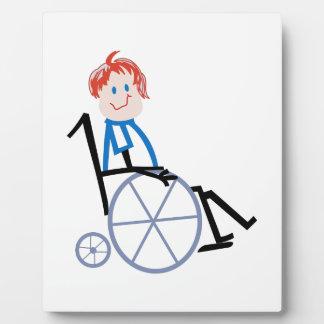 Stick Wheelchair Kid Plaque
