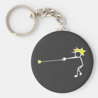 Stick-With-Sport Hammer Thrower Black Yellow Keychain