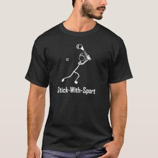 Stick With Sport Hurling White on Dark T-Shirt