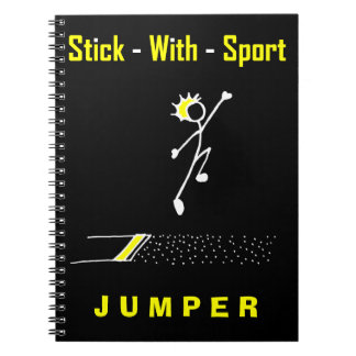 Stick With Sport Long Jumper Black + Gold Notepad Notebook
