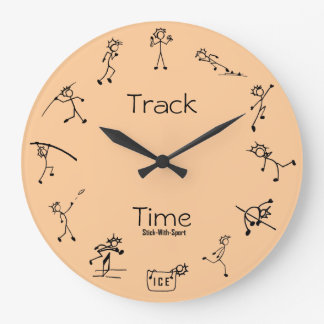Stick With Sport Track Time Decathlon Clock