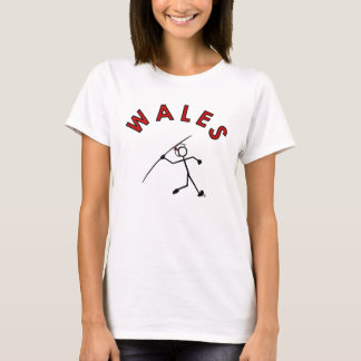 Stick With Sport Wales Javelin Lady RED Hair Band T-Shirt