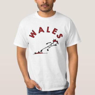 Stick With Sport Wales Sprint Stickman Red Hair T-Shirt