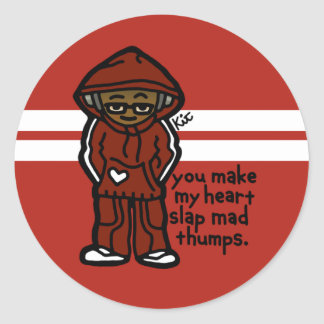stick with your crew. classic round sticker