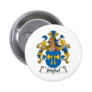Stickel Family Crest Pinback Buttons