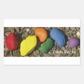 Stick'em Up.  Pride Rocks look great anywhere. Rectangular Sticker