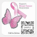 Sticker2 Template Breast Cancer Awareness *Test* Square Sticker