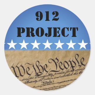 Sticker-912 proyecto Beck Pegatina Redonda