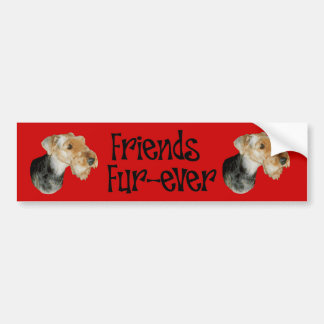 "Sticker Airedale Terrier ""friends fur at all """