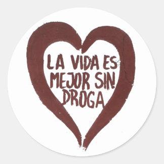 Sticker Amour #2 Pegatina Redonda