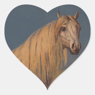 Sticker Antique Art Arabian Horse Twilight Desert