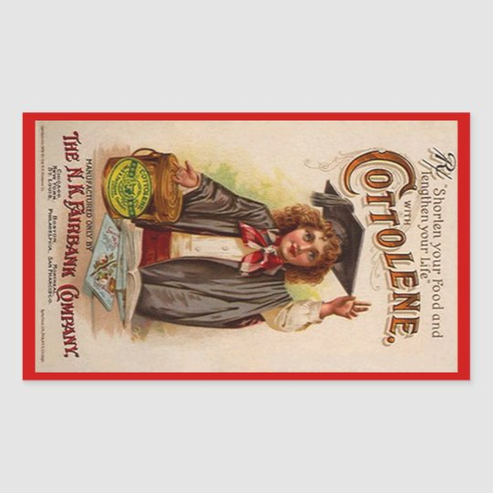 Sticker Antique Cottolene Advertising Shortening