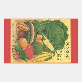 Sticker Antique Vintage Garden Veg Seed Advertise