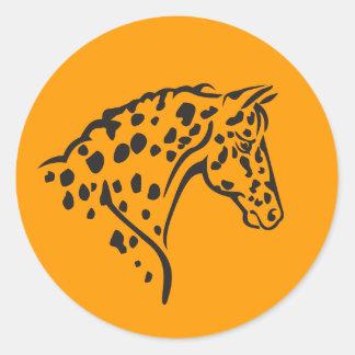 STICKER--Appaloosa yellow