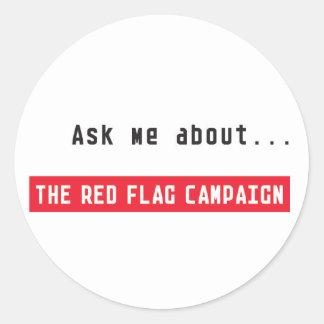 Sticker-Ask Me Classic Round Sticker