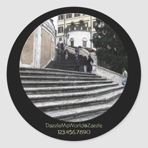 Sticker - At the Spanish Steps