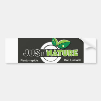 sticker automobile natural logotype just'