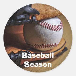 Sticker: Baseball Season Classic Round Sticker