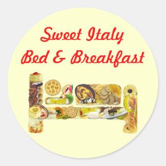 Sticker Bed & Breakfast Promotional Template