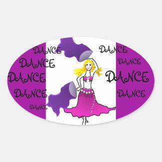 Sticker belly dancer tribal bollywood gypsy
