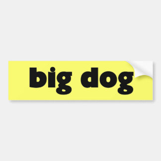 "Sticker ""big dog """