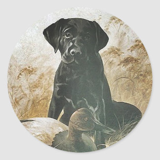STICKER Black Lab labrador  retriever decoy dog