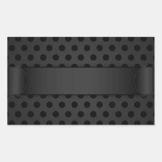 Sticker Black Polka Dot